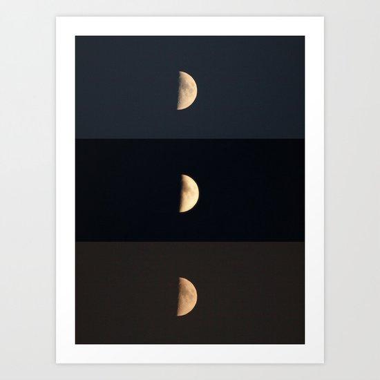 Waxing Crescent Art Print