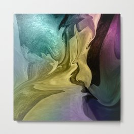 Liquid Abstract Metal Print