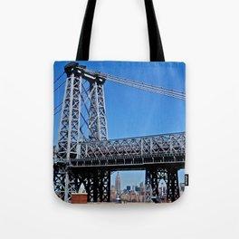 Williamsburg Bridge view Tote Bag