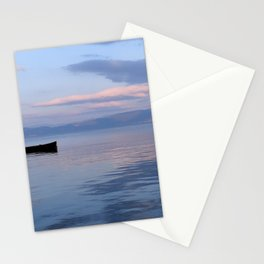 A boat in the sunrise Stationery Cards