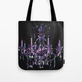 Amethyst Crystal Chandelier Tote Bag