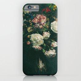 Henri Fantin Latour - Vase Of Flowers iPhone Case