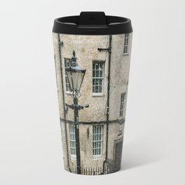 Lamppost and the Falling Snow Travel Mug