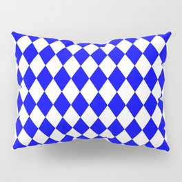 Rhombus (Blue/White) Pillow Sham