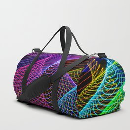 Rainbow Tornados Light Painting Duffle Bag
