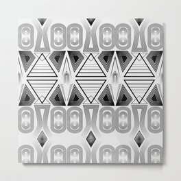 "Art Deco. ""Black and light gray"" 28 . Metal Print"