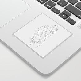 ligature - one line art Sticker
