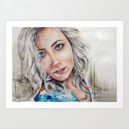 Digital Women Art Print