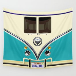 Blue teal minibus lovebug iPhone 4 4s 5 5c 6 7, pillow case, mugs and tshirt Wall Tapestry