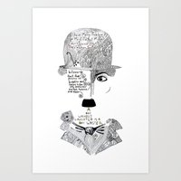 chaplin Art Prints featuring C. Chaplin by Ina Spasova puzzle