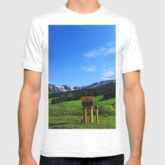 Gothic Campground Mens Fitted Tee White MEDIUM