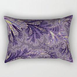 Violet Fractal Rectangular Pillow