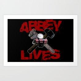 Edward Abbey Lives! Art Print