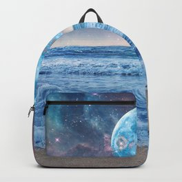 Super Moon Night Waves Backpack