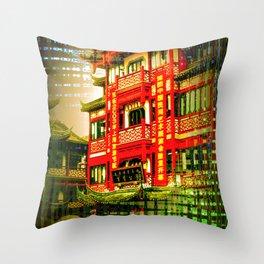 Asia World Throw Pillow