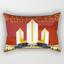 1933 Chicago World's Fair Rectangular Pillow