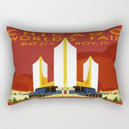1933 Chicago World's Fair Rectangular Pillow
