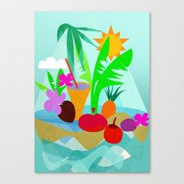 Tropical Vibes 2 Canvas Print