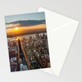 MANHATTAN - sunset Stationery Cards