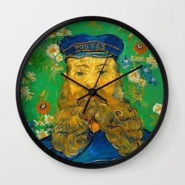 Vincent van Gogh - Portrait of the Postman Joseph Roulin (1888) Wall Clock