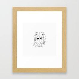 dane with attitude Framed Art Print