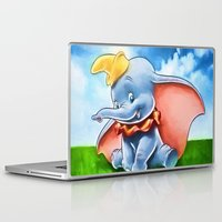 dumbo Laptop & iPad Skins featuring Dumbo by DisPrints