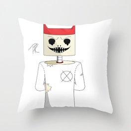 devil skelly Throw Pillow