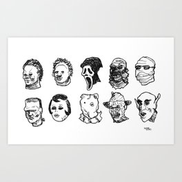 OH THE HORROR! Characters Art Print