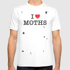 I Love Moths White Mens Fitted Tee MEDIUM