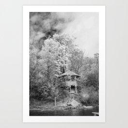 Hidden House B&W Art Print