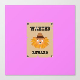 Wanted Wildwest lion poster T-Shirt Dtg7j Canvas Print