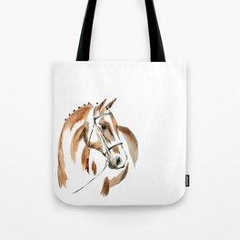 Bay Watercolour Horse Tote Bag