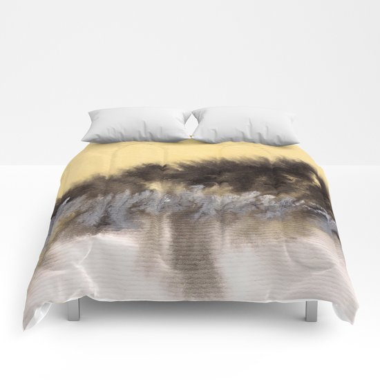 Watercolor abstract landscape 09 Comforters