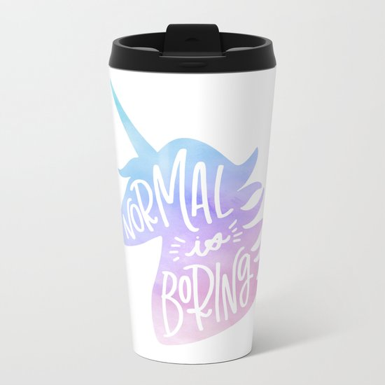 Normal Is Boring (Pastel) Metal Travel Mug