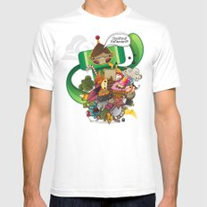Chestnut Katamari Mens Fitted Tee White MEDIUM