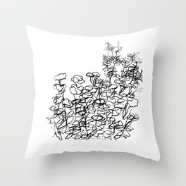 In The Courtyard Throw Pillow