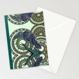 108 - Abstract Crow Stationery Cards