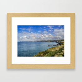 Port Isaac to Tintagel View Framed Art Print