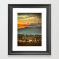Sunset field II Framed Art Print