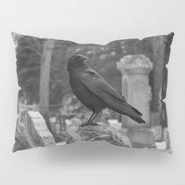 Crow In Shades Of Stone Pillow Sham