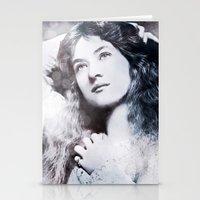 iron maiden Stationery Cards featuring Maiden by ArtChickStudio