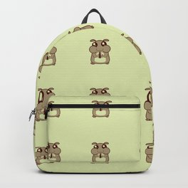 Cute Duotone Hamster Pattern Illustration Backpack