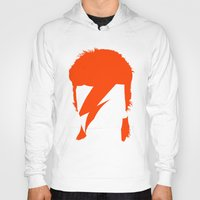 bowie Hoodies featuring BOWIE by eve orea