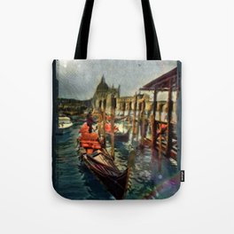 Waterway At Dusk Tote Bag