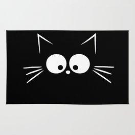Cute Black Cat Rug