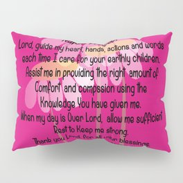 Christian Nurse Prayer Pillow Sham