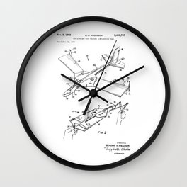patent art Anderson Toy airplane with folding wings having tabs 1968 Wall Clock