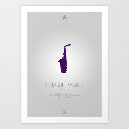 Musician Series - Charlie Parker Art Print