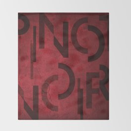 Pinot Noir Wine Typography Throw Blanket