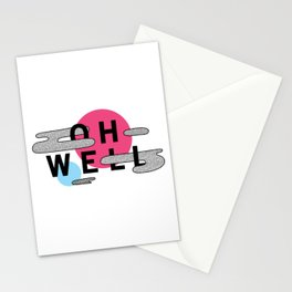 Oh Well - Pink and Blue Stationery Cards